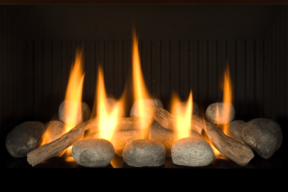 H4 Gas Fireplace Rocks with Decorative Rock Kit