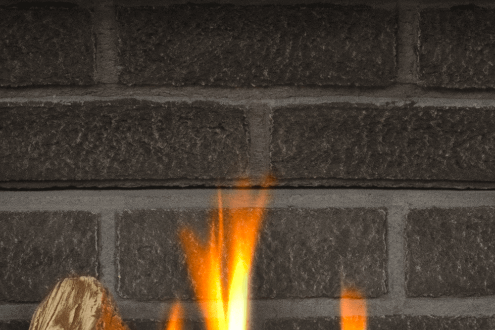 H3 Gas Fireplace Charcoal Brick Liner