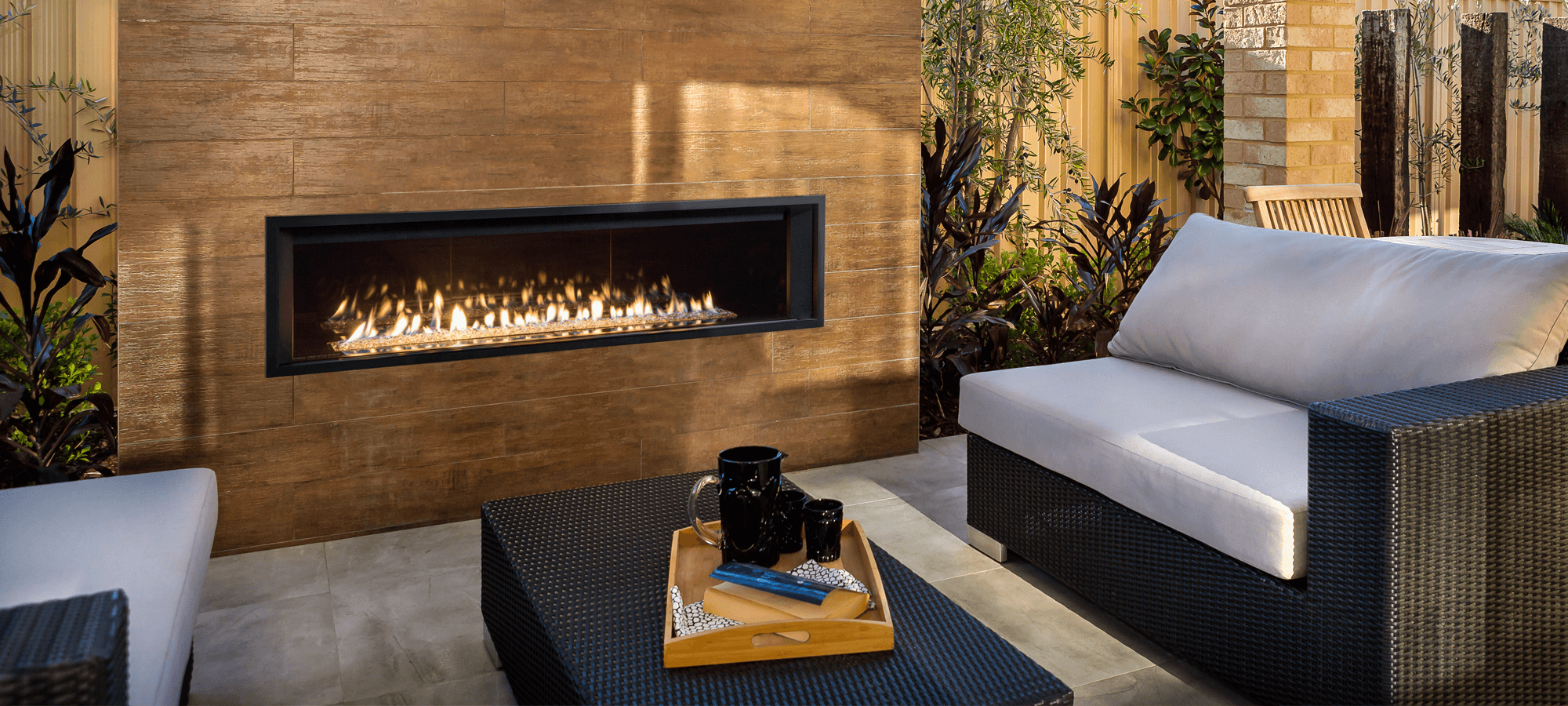 Outdoor Fireplace by Valor