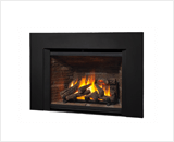 Legend G4 Insert Series shown with 780 Logs, Ledgestone Liner and Square Trim Kit in Black