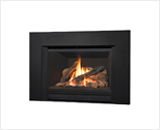 Legend G4 Insert Series shown with 785 Logs, Fluted Black Liner and Square Trim Kit in Black
