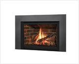 Legend G4 Insert Series shown with 785 Logs, Red Brick Liner and Square Trim Kit in Vintage Iron