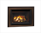 Legend G4 Insert Series shown with 780 Logs, Edgemont Door Kit and Backing Plate