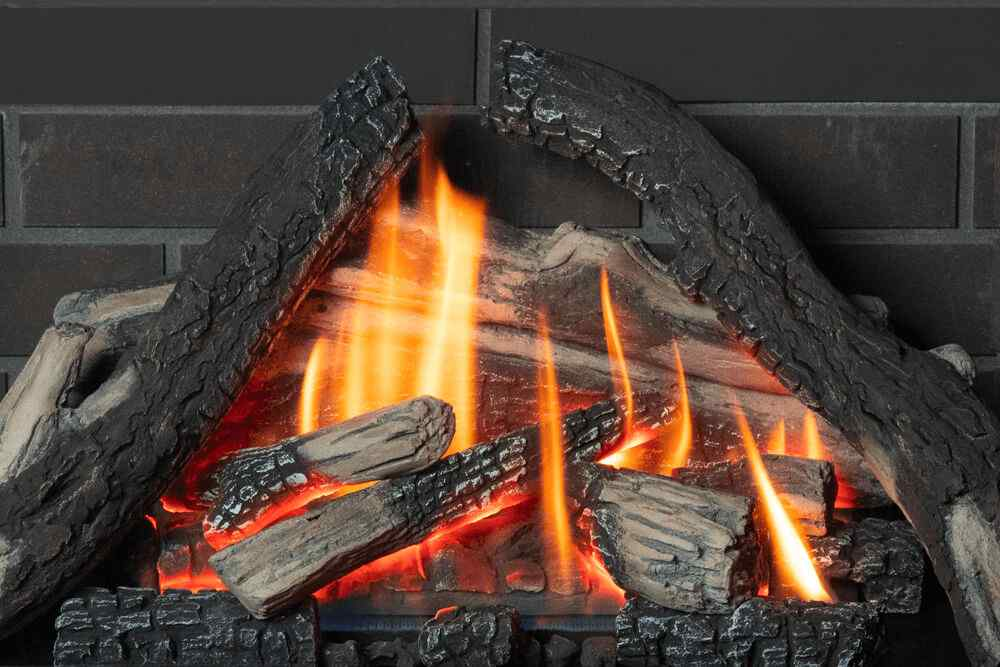 H3 Gas Fireplace Traditional Logs