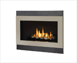 H4 Series shown with Decorative Rock Kit, Outer Square Surround and  Painted Nickel Inner Bezel