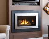 H4 Series shown with Logs, outer Landscape Surround and Painted Nickel Inner Bezel