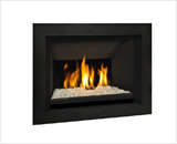 H5 Series shown with Decorative Glass and 4 Sided Surround in Black