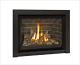 H5 Series shown with Traditional Logs and 3 Sided Surround in Black