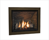 H6 Series shown with Traditional Logs, Fluted Black Liner and 4 Sided Trim in Bronze