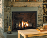 H6 Series shown with Traditional Logs, Ledgestone Liner and 1 Inch Fixed Framing Kit