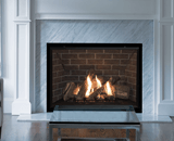 H6 Series shown with Traditional Logs, Red Brick Liner and 1 Inch Fixed Framing Kit