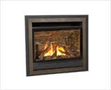 Horizon Series shown with Logs and Edgemont Lift Off Door Kit in Bronze