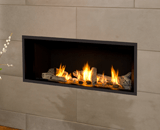 L1 Linear Series with Driftwood, Fluted Black Liner and 1 Inch Surround