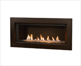 L1 Linear Series with Murano Glass, Reflective Glass Liner and 3 1/2 Inch Surround in Bronze