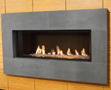 L1 Linear Series with Decorative Glass, Reflective Glass Liner and 1 Inch Surround