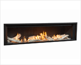 L3 Linear Series with Driftwood, Fluted Black Liner and 1 Inch Surround