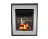Portrait Ledgeview shown with Logs and Brushed Nickel Front