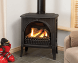 Madrona Traditional Series shown with Traditional Arched Front in Black