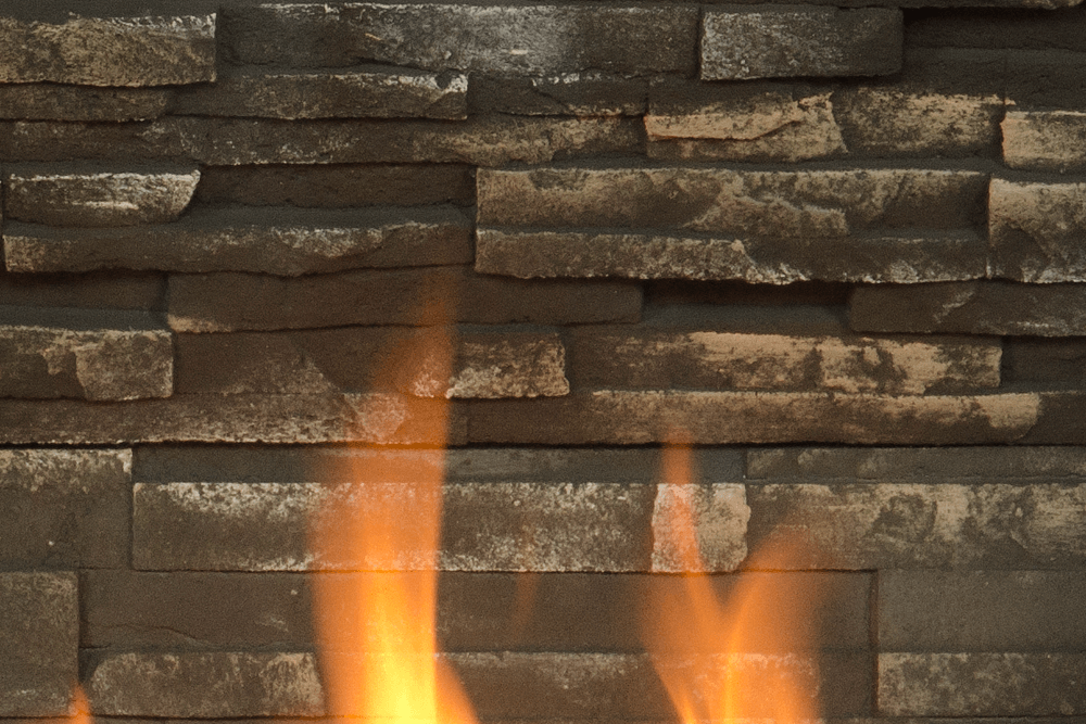 H5 Gas Fireplace Ledgestone Liner