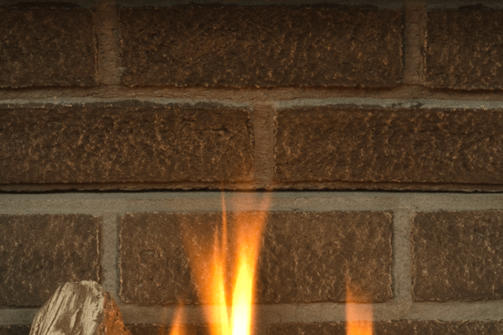 H5 Gas Fireplace Red Brick Liner