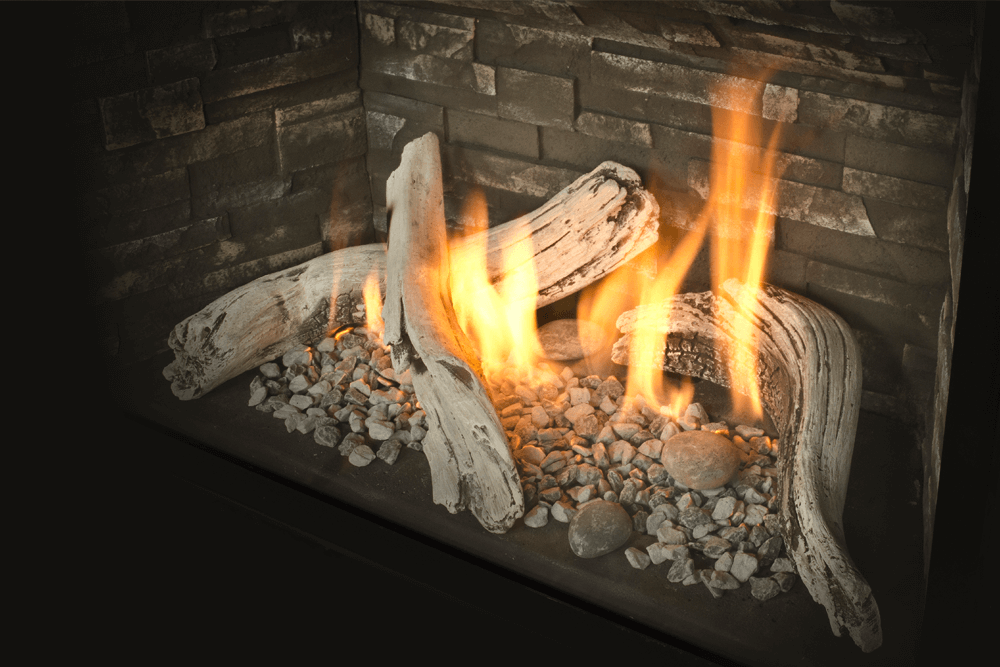 H5 Gas Fireplace Driftwood