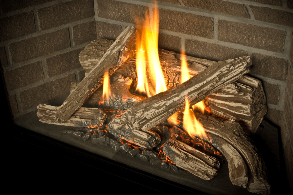 H5 Gas Fireplace Traditional Logs