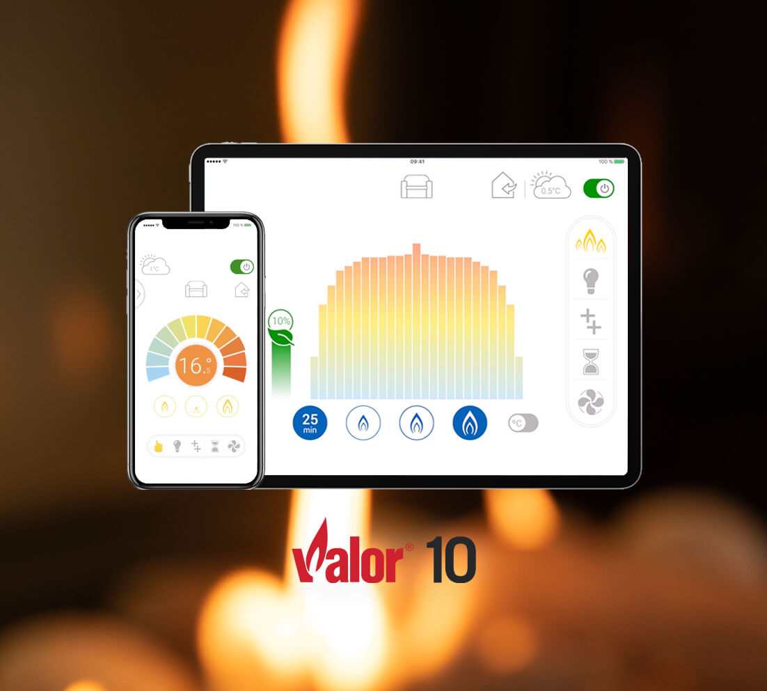 Control your Valor Gas Fireplace with our remote app